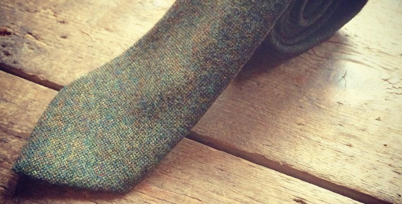 Green Tweed Tie