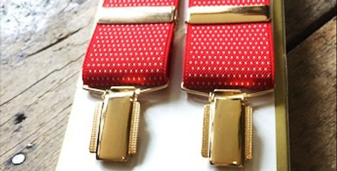 Red Braces With Small White Spots