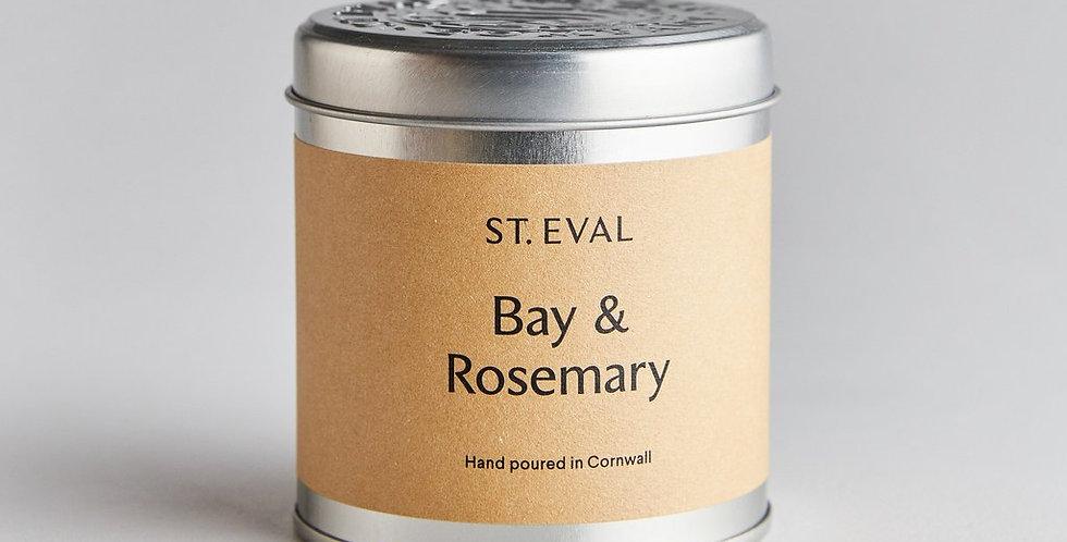 Bay & Rosemary Tin Candle