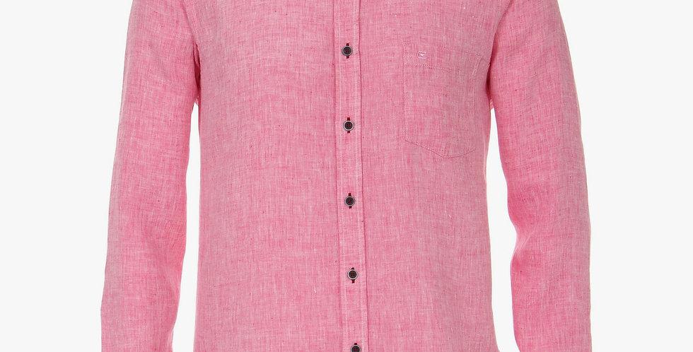 Pink Linen Long Sleeved Shirt