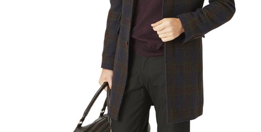 Brook Taverner Rowan Check Overcoat