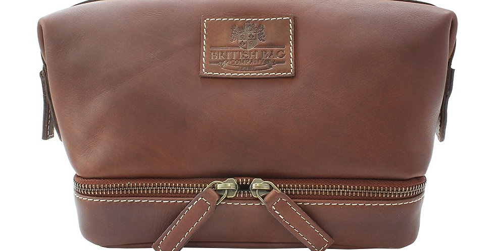 Pull Up Leather Gladstone Wash Bag