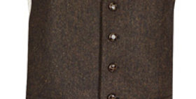 Brown Flecked Wool Mix Waistcoat