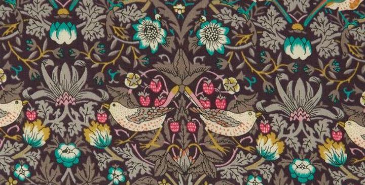 Liberty Print Brown 'Strawberry Thief' Tie