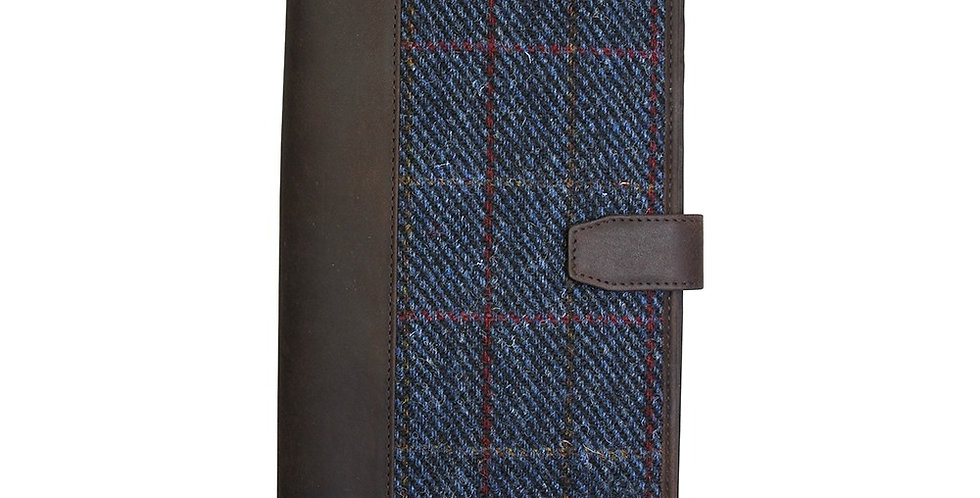 Navy Harris Tweed Document Case