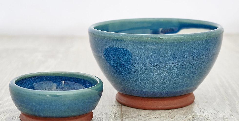 Teal Olive & Stone Bowl Set