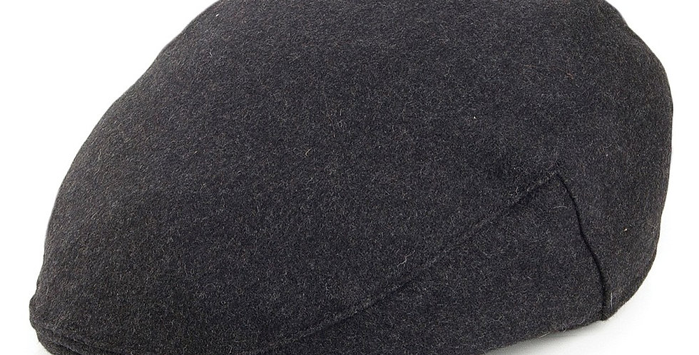 Grey Melton Wool Flat Cap