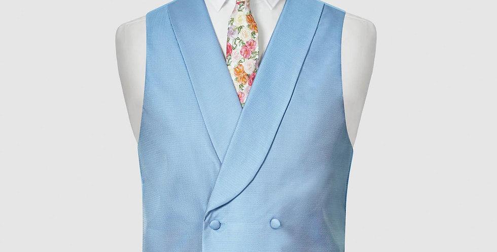 Sky Blue Double Breasted Waistcoat