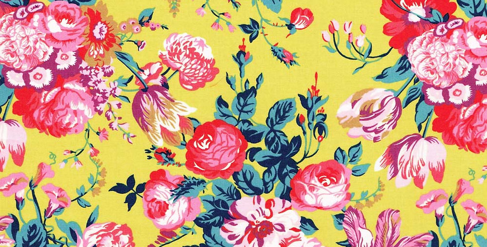Liberty Print Yellow 'Magical Bouquet' Pocket Square