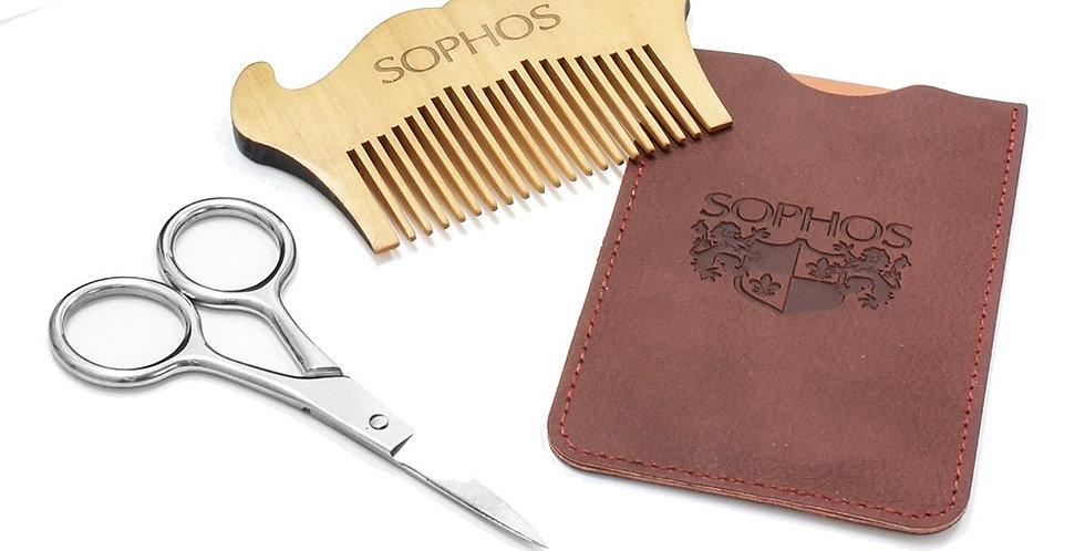 Moustache Shaping Comb & Scissor Set