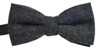 Blue Flecked Wool Mix Bow Tie