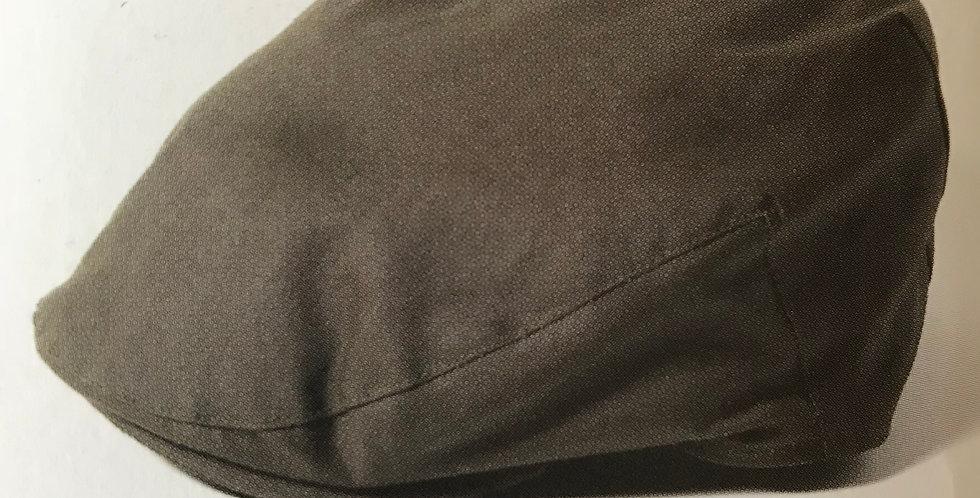 Olive Wax Flat Cap