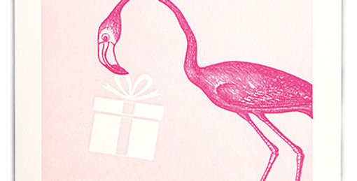 Pink Flamingo Note Card