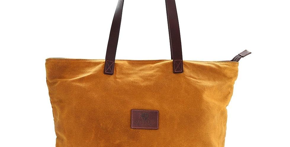 Mustard Waxed Tote Bag