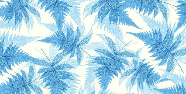 Blue Fern Wrapping Paper