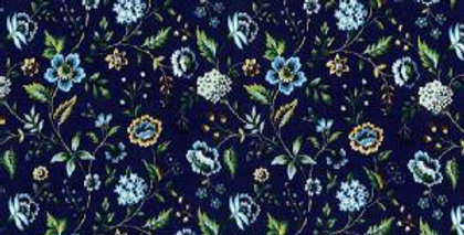Liberty Blue 'Rousseau' Fabric Tie