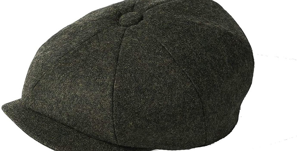Loden Melton Wool 8 Piece Cap