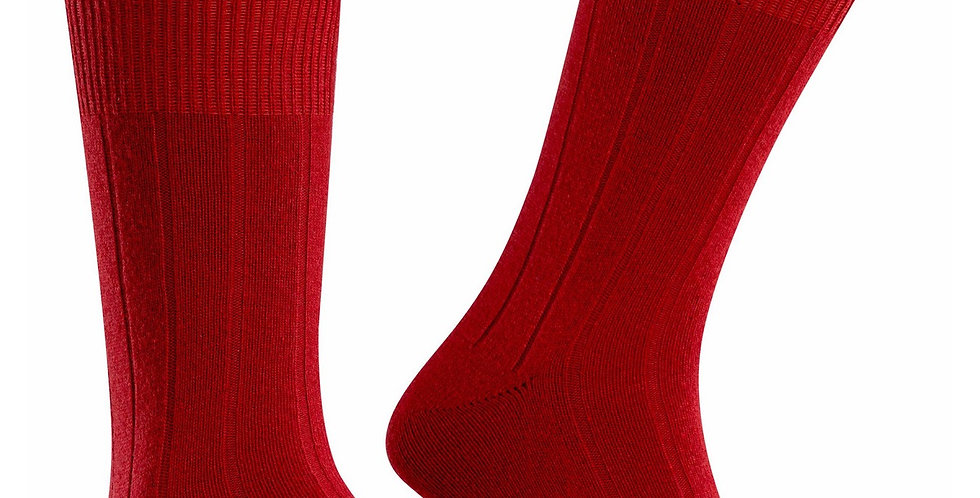 Chilli Red Cashmere Blend Socks