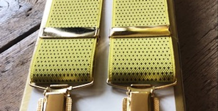 Yellow Braces With Small Navy Spots
