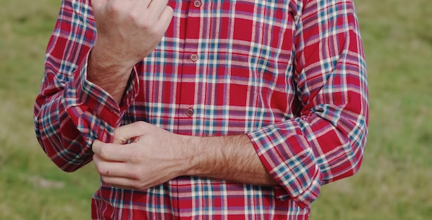 Red Checked Brushed Cotton Shirt