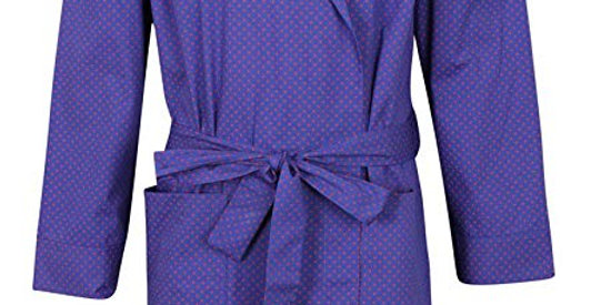 Blue With Red Spots Dressing Gowns