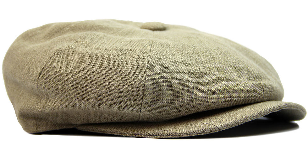 Khaki Linen 8 Piece Cap