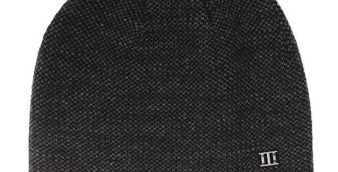 Fine Knitted Grey/Navy Beanie