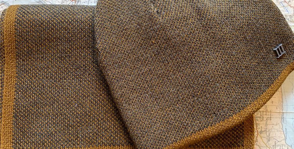Set-Fine Knitted Mustard Scarf & Beanie