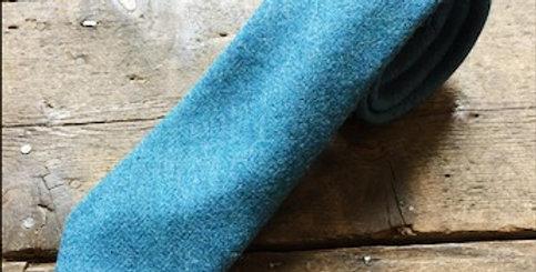 Teal Tweed Tie