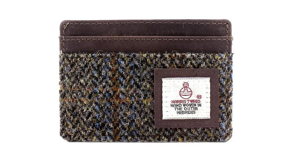 Brown Harris Tweed Card Holder