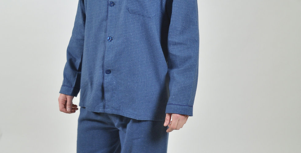 Blue Check Brushed PJ Set