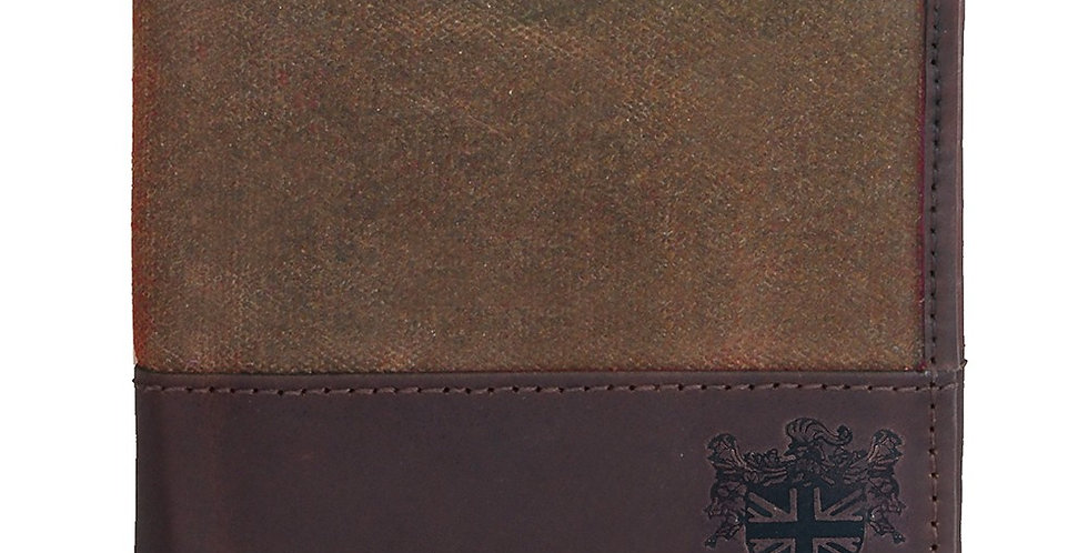 Brown Waxed Canvas Wallet