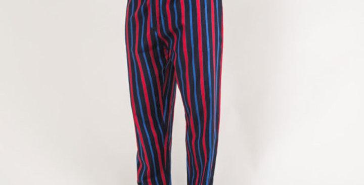 Navy Striped Lounge Pants