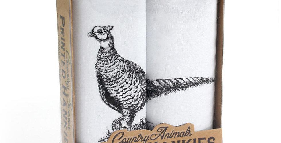 'Pheasant' Hankies Set