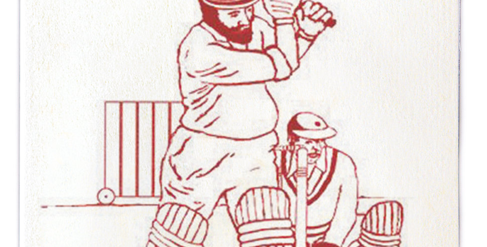 Cricket Note Card
