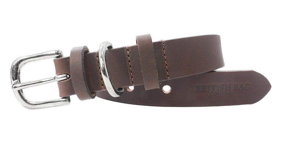 Medium Brown Leather Dog Collar