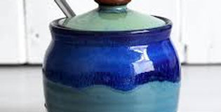 Blue & Teal Sugar Pot