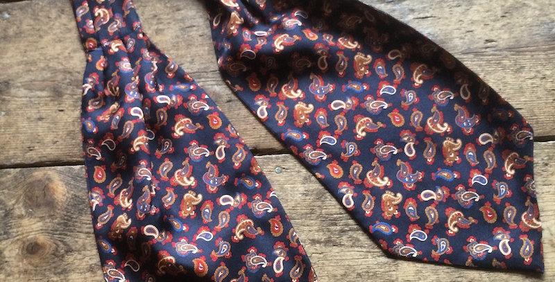 Navy Paisley Cravat