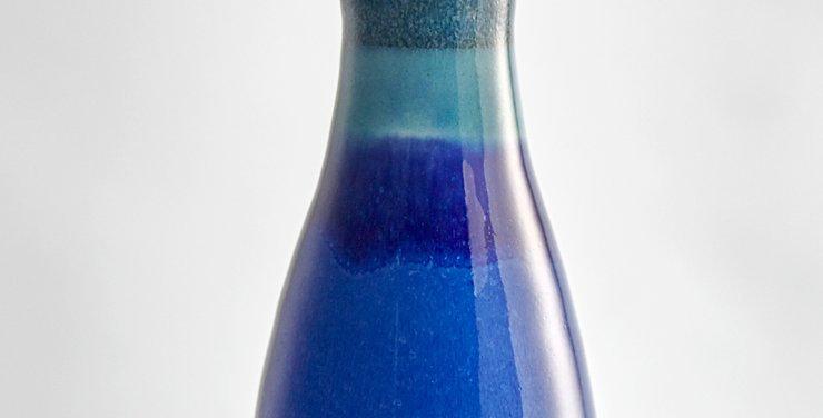 Medium Deep Blue Cone Olive Oil Decanter