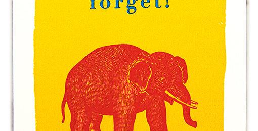 Birthday Elephant Note Card