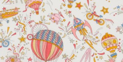 Liberty Print Pink 'Sky High' Pocket Square