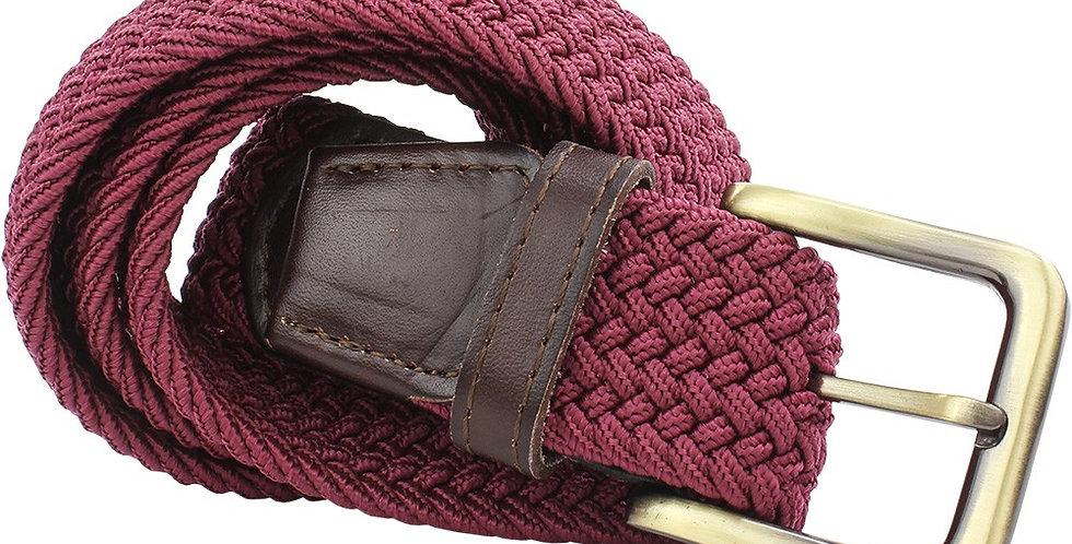 Wine Woven Belt