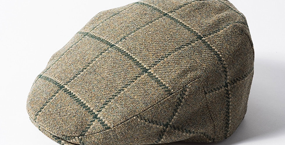 Green & Green Check 'Gamekeeper' Flat Cap