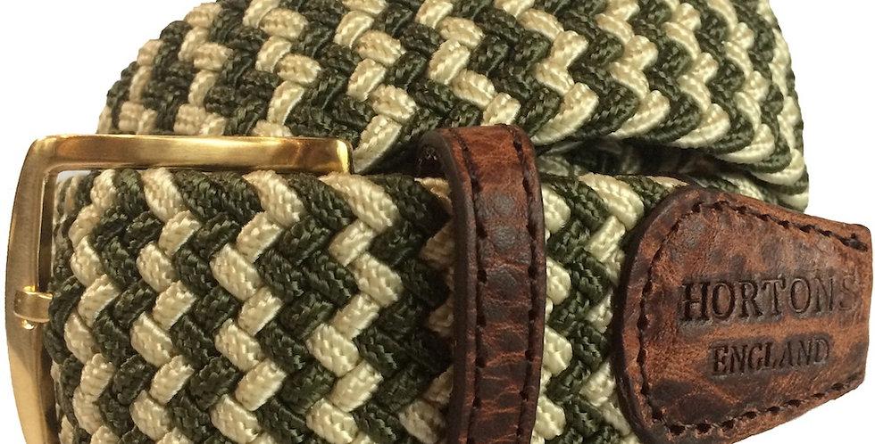 Green & Cream Woven Belt