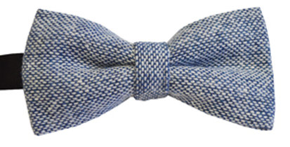 Pale Blue Wool Mix Bow Tie