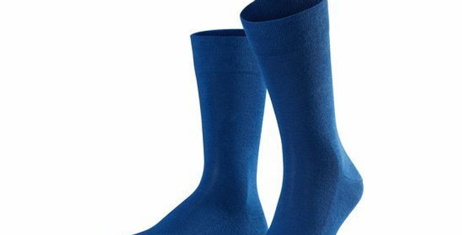 Bright Blue Cotton Soft Top Socks