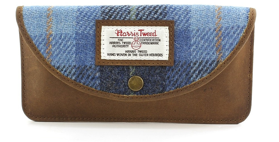 Blue Harris Tweed Glasses Case