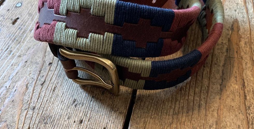 Navy, Khaki & Burgundy 'Polo' Belt