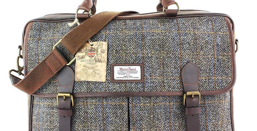 Brown Harris Tweed Messenger Bag