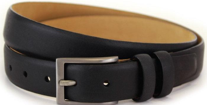 Dark Brown Leather & Nubuck Belt